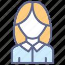 avatar, executive, female, profile, user, women icon