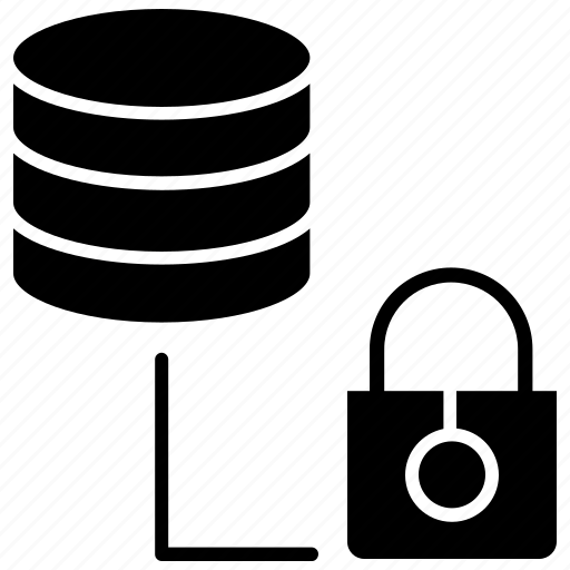 data privacy, data protection, database, lock, protection, security icon
