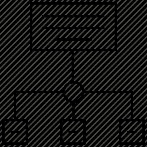 data flow, flow chart, hierarchy, infographic, schema, structure icon