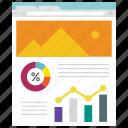 analysis, design, internet, marketing, page, web icon, • creative icon