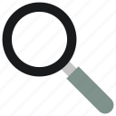 glass, magnifying, search icon icon, • find icon