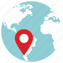 gps, location, pin icon, • globe icon