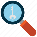 find, find key, magnify, search icon, • citycons icon