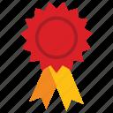 award badge, award ribbon, badge, star badge icon, • award icon