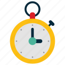 stop, time, watch icon, • manage icon