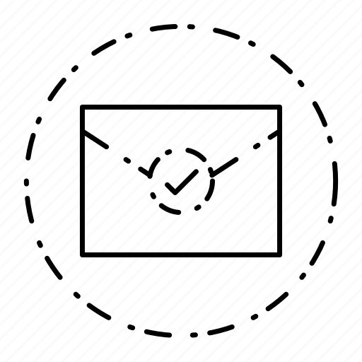 checkmark, email, envelope, letter, message icon