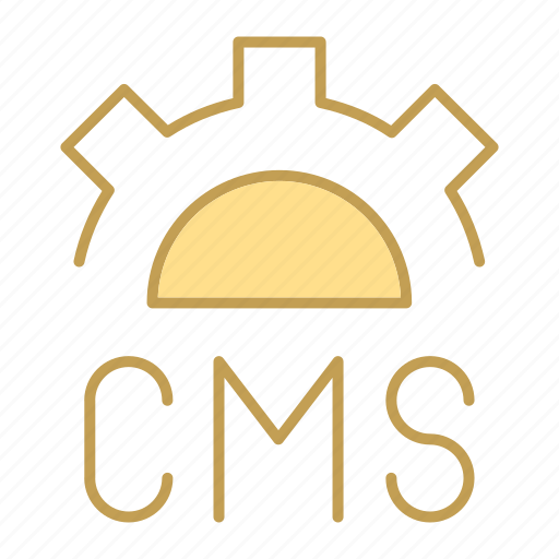 cms, code, design, gear icon