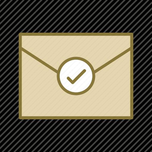 checkmark, envelope icon
