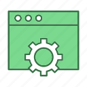 configuration, gear, setting, web page icon