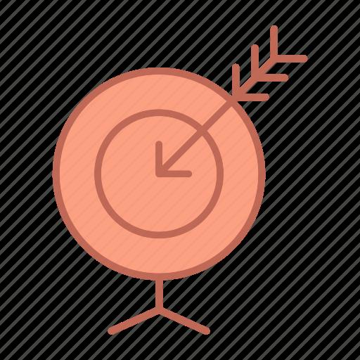 arrow, goal icon
