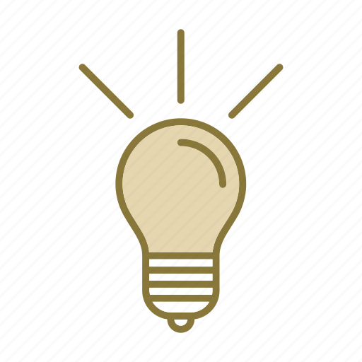 bulb, idea, lamp, seo icon