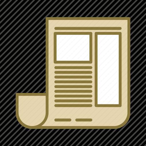 blog, news, paper, survey icon