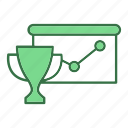 graph, trophy icon