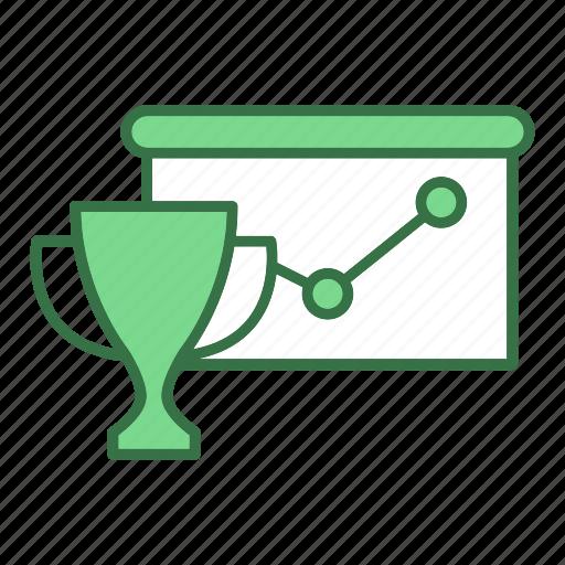 graph, trophy icon