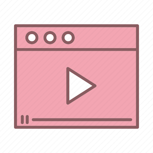video, web page icon