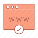 browser, web page icon
