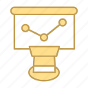 graph, whiteboard icon