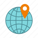 globe, location, map, mark, marker, pin, pointer icon