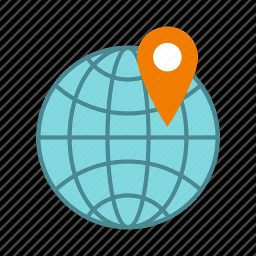 globe, location, map, mark, marker, pin, pointer icon