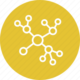 concept map, diagram, network, scheme icon