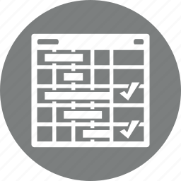 management, planning, tasks, usability icon