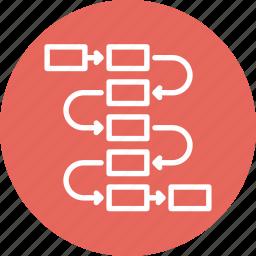 flow diagram, planning, scheme, workflow icon