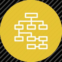 diagram, information architecture, scheme, usability icon