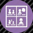 concept, illustration, storyboard, usability icon