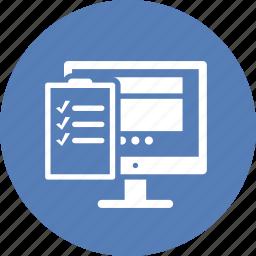 checklist, tasks, testing, usability icon