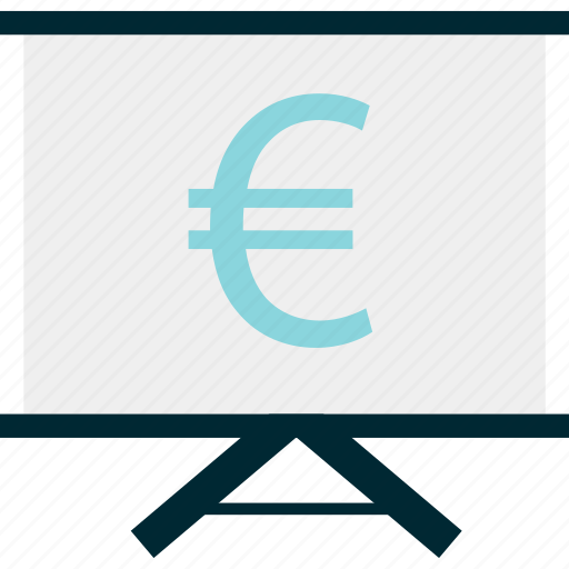 board, education, euro, learning, money, sign icon