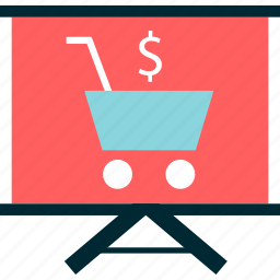 analyze, board, cart, graph, learn, learning, shopping icon
