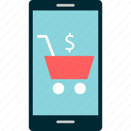 cart, cell, online, phone, shop, shopping icon