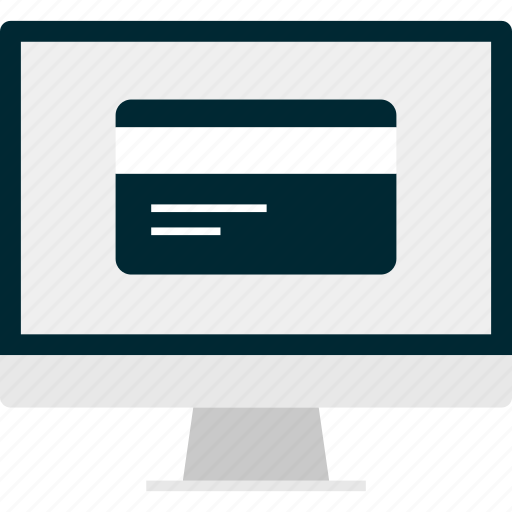 card, credit, monitor, online, pay, payment icon