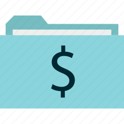 archive, dollar, folder, online, sign icon