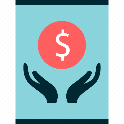 dollar, graph, hands, money, report, sign icon