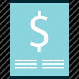 dollar, money, online, sign, wealth icon