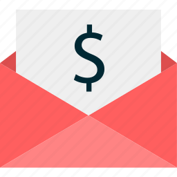 dollar, email, envelope, mail, money, sign icon