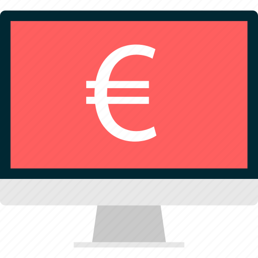 banking, euro, money, online, payment, sign icon