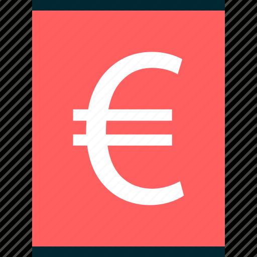 euro, money, report, revenue, sign, wealth icon