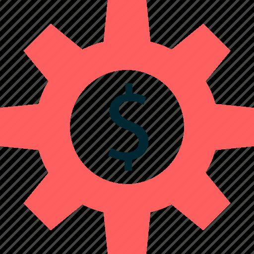 dollar, graph, money, report, setup, sign icon