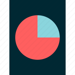 chart, graph, online, pie, report, web icon