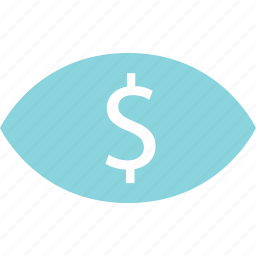 dollar, find, look, money, search, sign icon