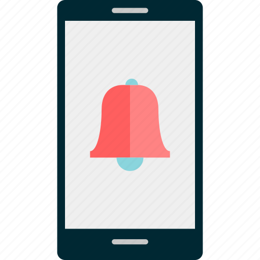 bell, call, mobile, online, reminder, schedule icon