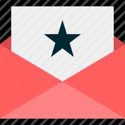 favorite, message, online, send, star, web icon