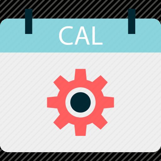 calendar, event, options, setup icon