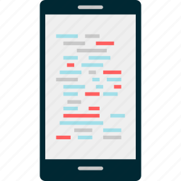 cell, code, computer, development, phone, web icon