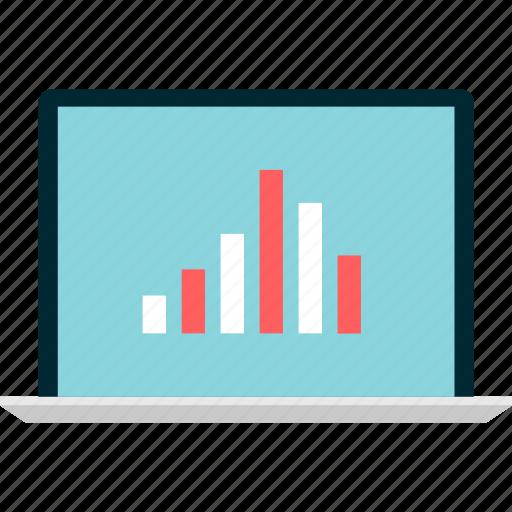 bars, computer, data, screen icon
