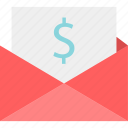 dollar, email, mail, message, money, sign icon