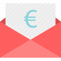 email, euro, mail, message, money, send icon