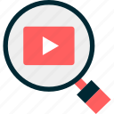 look, search, tube, videos, you, youtube icon